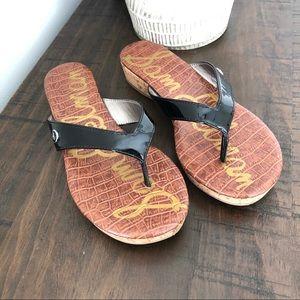 Sam Edelman Black Sandals Like New